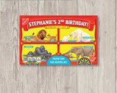 Custom Animal Cracker Labels (5) – Children's Carnival Birthday Party Favor - Circus Birthday - Circus Theme Party - Barnum Animal Cookies