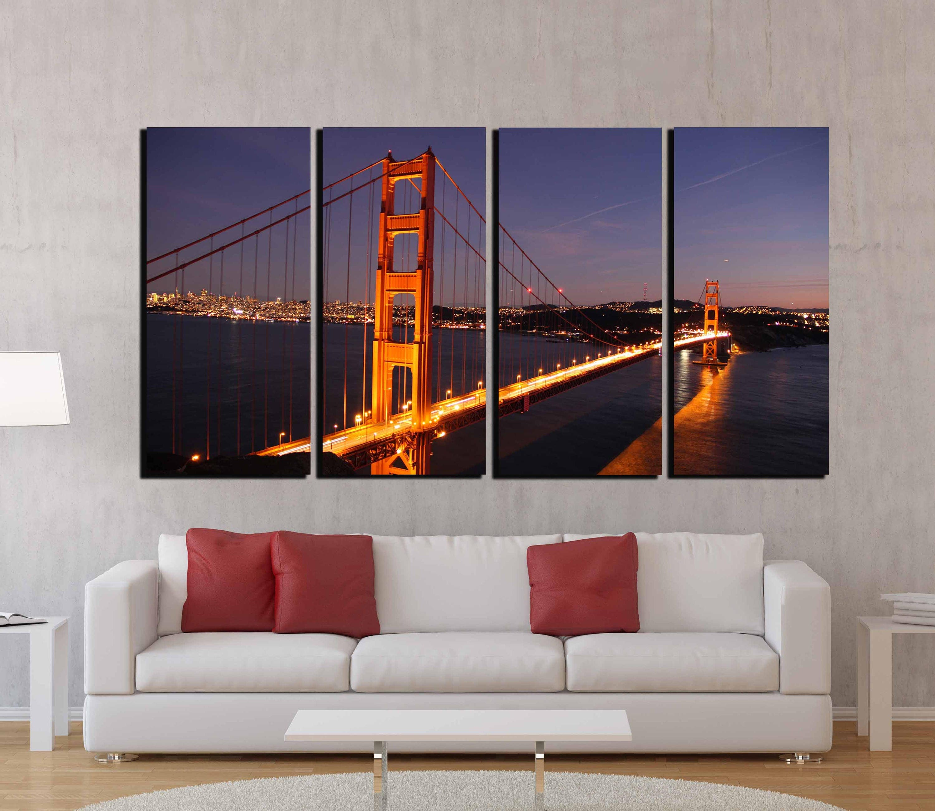 Golden gate bridge golden gate wall art san francisco wall for 18x40 frame