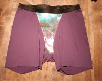 No Chub Rub - Women's Boxers - Pick your print and size - Purple Galaxy