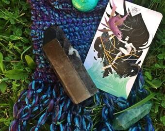 Teal & Moon Divination Bag