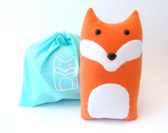 Plush Craft Animal Friends Pillow Kit : DIY Kit Wolf Woodland Pillow Plush Fleece Fabric Animal