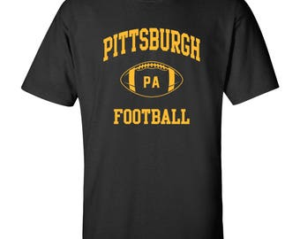 Pittsburgh Classic Football Arch Basic Cotton T-Shirt