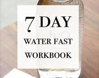 7 Day Water Fast Workbook | Water Fasting | How to Fast | PDF Printable | Shanhan Studio