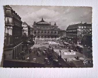Vintage Palais Garnier Opera House Postcard --- Retro 1940's Photograph French Architecture Travel Souvenir Mail --- Paris and Its Wonders