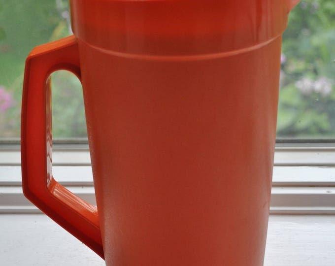 Vintage Tupperware Orange Pitcher 2 Qt