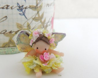 Butterfly Mini  Fairy Wee Ones Miniature Doll Figurine