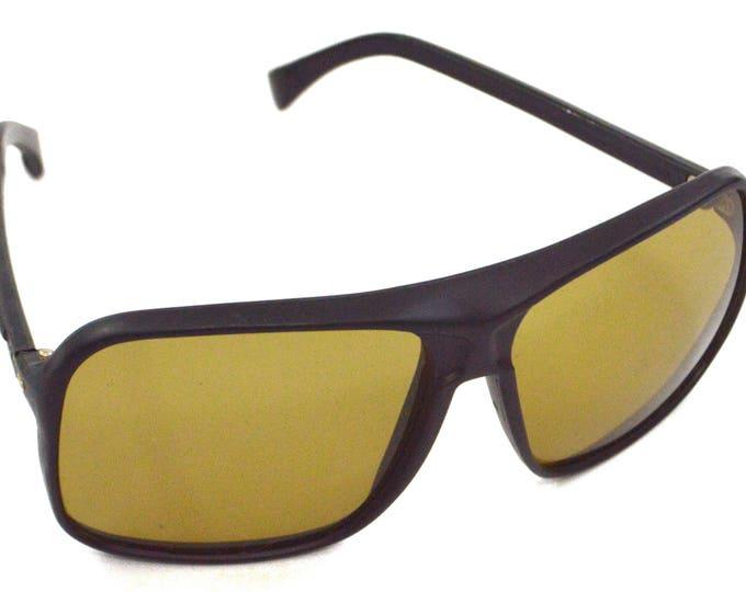 Vintage 70s Foster Grant Deadstock Rectangular Oversized Green Tinted Lens Sunglasses Shades