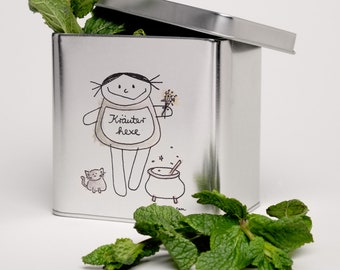 Herb Witch can for tea, herbs, spices