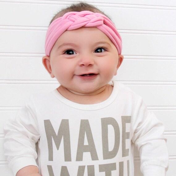 Knotted Turban Headband, Pink Baby Turban, Adult Headwrap, Toddler Headband, Child's Turban, Adult Turban Headband, baby Knotted headband