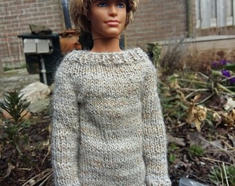 Dollclothes: handknitted sweater for maledolls like Ken.