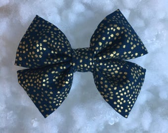 Rifle Paper & Co Menagerie Navy Gold Metallic Bow and Bow tie