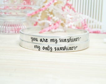 You Are My Sunshine Bracelet Set - Mother's Day Gifts - Gifts for Mom - Mother's Day Gift Guide - Mother Daughter Jewelry - Gifts Under 25