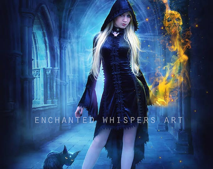 Gothic fantasy Witch art print