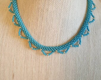 Beaded Lace Kumihimo Necklace