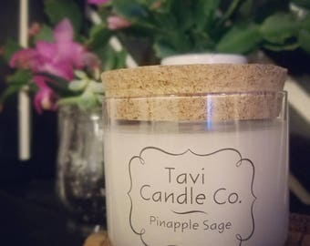 Pineapple Sage Scented Soy Wax Candle