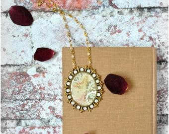 CLOCKWORK BUTTERFLY Pendant Necklace, OOAK Handmade Cogs and Butterflies Steampunk Themed Jewelry
