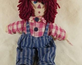 Raggedy Andy ~ Hand Made ~ Hobo Doll ~ Rag Doll ~ Americana ~ Yarn Hair ~ Folk Art ~ Doll Kit ~ Vintage Cloth Doll ~ Penny Lane Treasures
