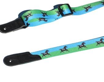 Guitar Strap or Mandolin or Ukulele Strap | Acoustic Guitar Strap | Music Instrument Strap | Cute Horse Guitar Strap |  Mando Strap