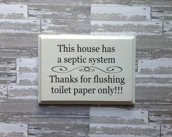 This bathroom has sensitive plumbing septic system rules for 1 bathroom septic system