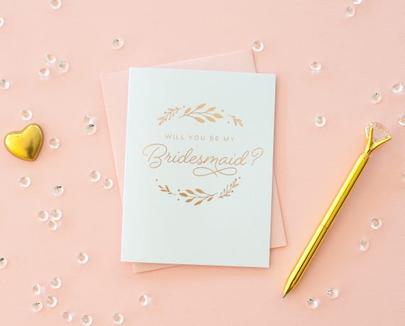 Rose Gold Foil Will You Be My Bridesmaid card bridesmaid proposal bridesmaid invitation bridesmaid gift foil bridesmaid card bridesmaid box
