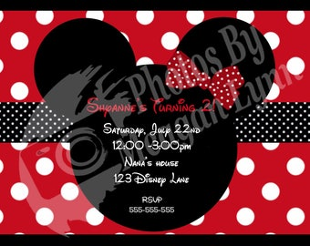 Minnie Mouse Birthday Invitation *DIGITAL*