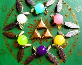 Set of Six Zelda-Inspired Fairy Necklaces