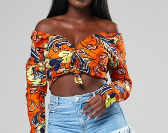 CASSANDRA blouse African buttondown shirt, African clothing, African work shirt, dashiki Ankara clothing, African print dress, African top