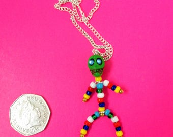 Day of the Dead inspired~Skeleton~Halloween~Gothic Necklace