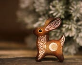 Earth Bunny Rabbit Hare Animal Totem Sculpture Rabbit Hare figurine fantasy creature