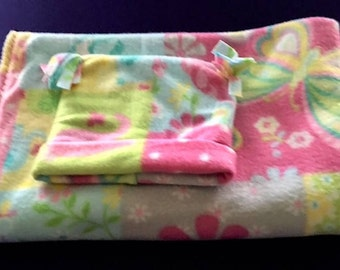 Hand Made BUTTERFLY BABY BLANKET With Hat