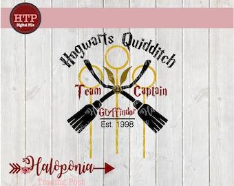 Hogwarts Quidditch Team Captain Gryffindor SVG File (Harry Potter)