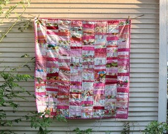All the pinks - a pink scrap quilt