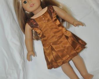 Copper dress for American Girl Doll