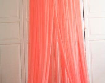 READY TO SHIP Coral  Baldachin -  Tulle Canopy, Crib  Bed Mesh Canopy, Nursery canopy, Bed canopy, Play room canopy, Hanging Canopy