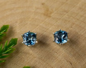Santa Maria Aquamarine Sterling Silver Earrings