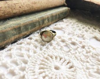 Handmade Globe Ring, World Map Ring, Vintage Wanderlust, World Traveler Gift