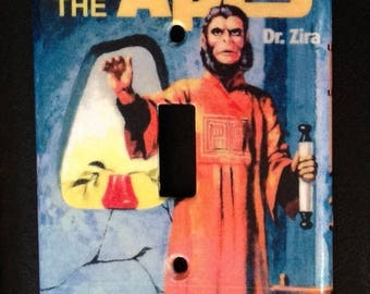 light switch cover plate: Zira model kit (Planet of the Apes)