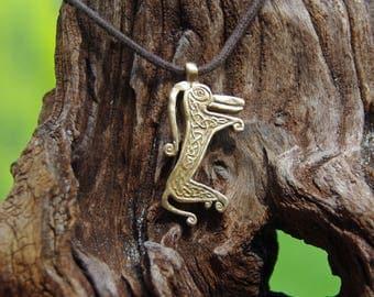 Pictish Beast Pendant in Bronze