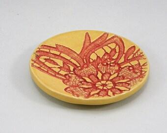 Ring Dish Tea Bag Holder Spoon rest Stoneware foodsafe & lead free glaze