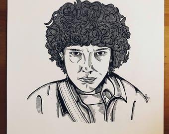 Eleven (Jane) - Stranger Things A4 Print