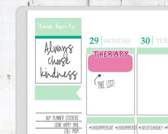Therapy Boxes (small) Planner Stickers by Lavish Paper Co. | Appintment Sticker, Therapy Sticker, Counseling Sticker, Agenda Sticker, LPC427