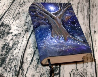 Tree of Life  500 Page Blank Book of Shadows, Hand Painted 6x9 Journal