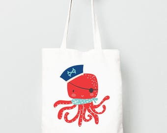 Octopus tote bag | Etsy