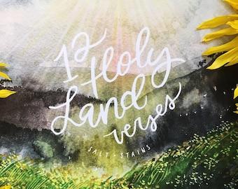 Christian 2018 Calendar: 12 Holy Land Verses