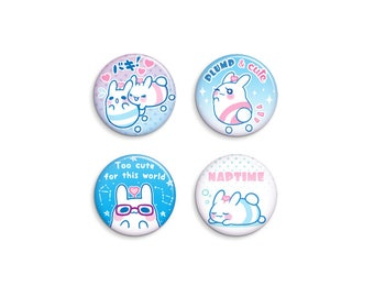 Space Bunnies Pin-Back Button Set