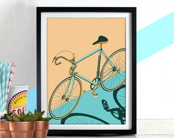 Bicycle, Bike, bikes, cycle isometric poster wall Art Hanging Print Home Décor