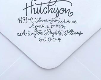 Address Stamp - Modern  Calligraphy