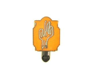 Saguaro Cactus Rusty Metal Night Light