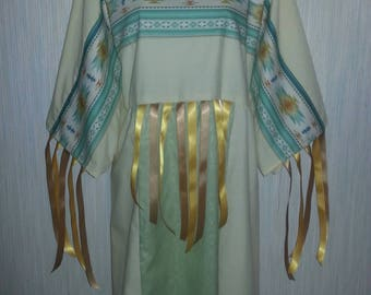 3x, 2x, 1x Native  American indian ribbon dress and leggings  Pow-wow regalia