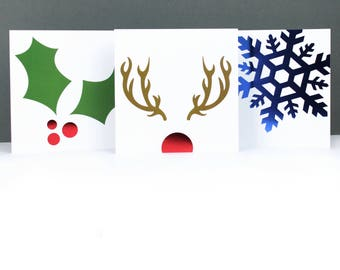 Multipack Christmas cards, Foil Christmas cards, Luxury Christmas cards, Festive greeting card pack